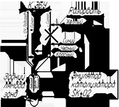 схема подключения электронной обманки катализатора