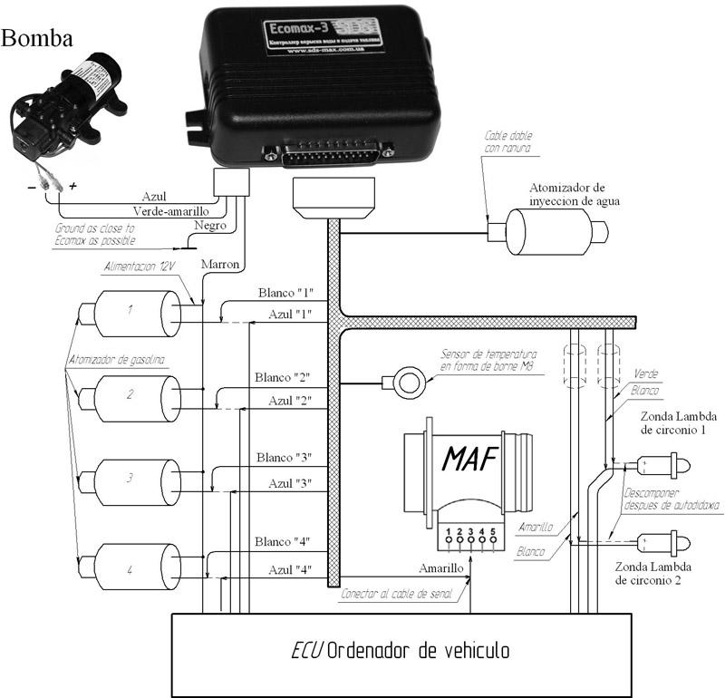 Подключение системы экономии топлива Ecomax-2