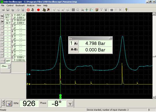 Диагностика фаз газораспределения